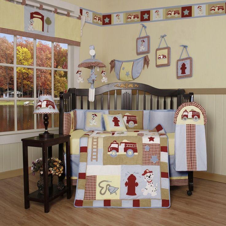 Firetruck Nursery Baby Boy Cribs Baby Bedding Sets Fireman Nursery