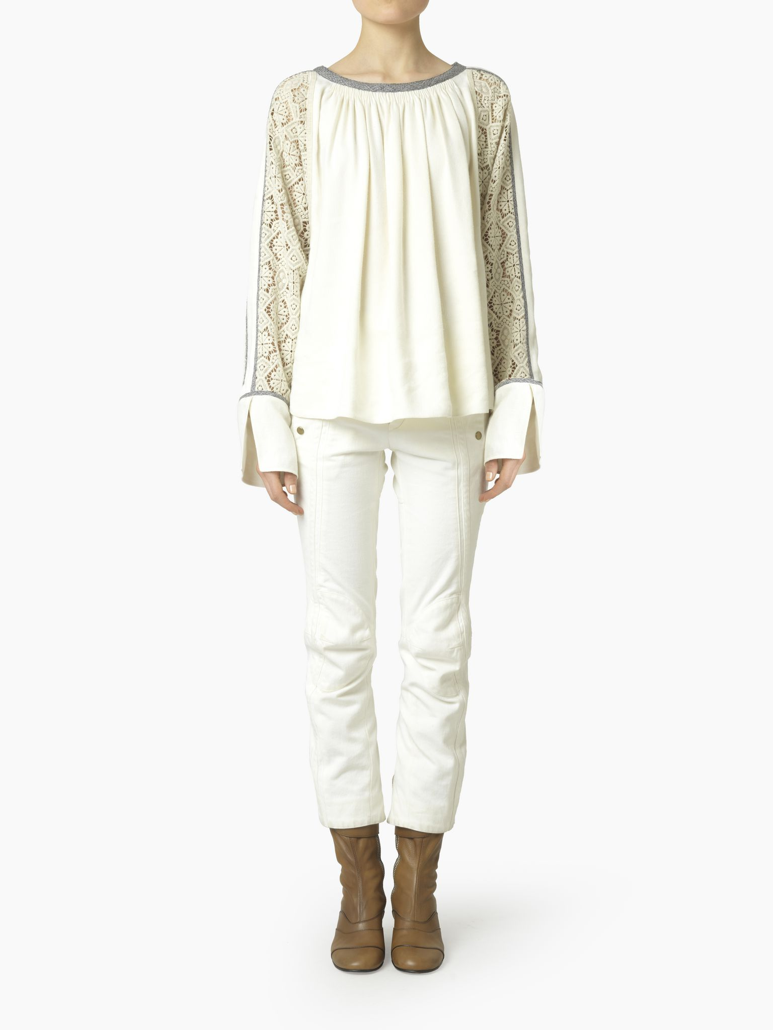 Chloé Guipure Blouse, Women's Ready To Wear | Chloé Official Website | 16HHT3616H039