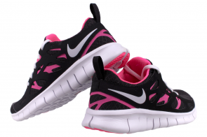 18344426e1b2 NIKE Free Run 2.0 Kids Youth GS 477701 001 Black   White-Pink Flash The Nike  Free Run 2.0  Lightweight support and flexibility