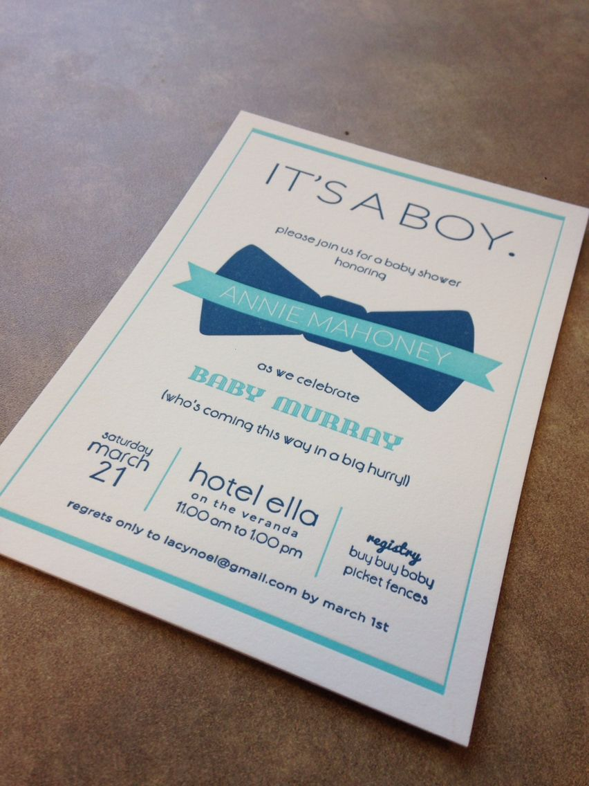 Letterpress baby shower invitation | Graphic Design | Pinterest ...