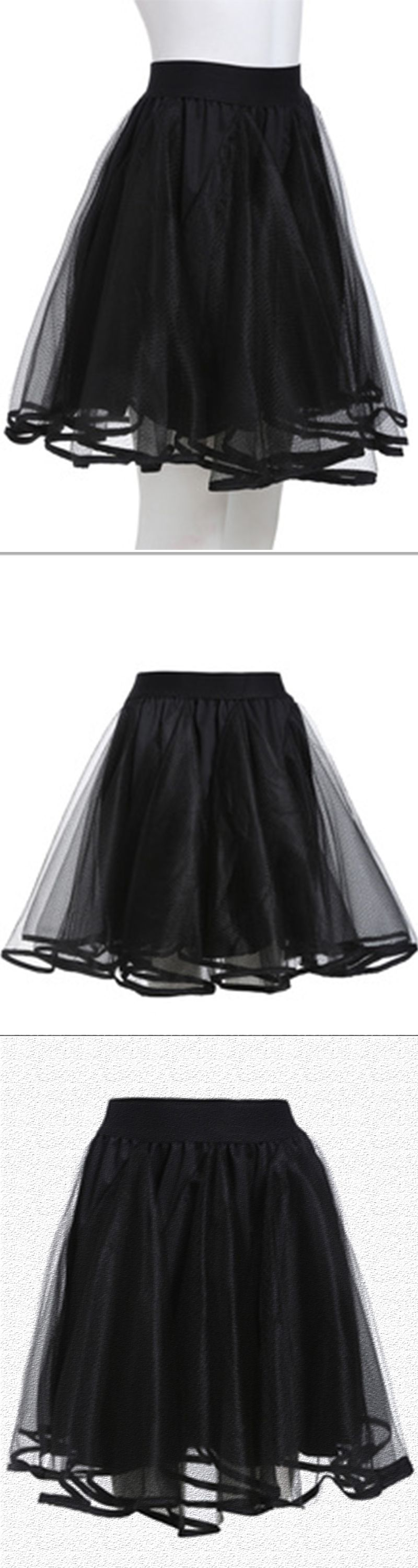 beautiful mesh skirt this skirt is made by organza with elastic in