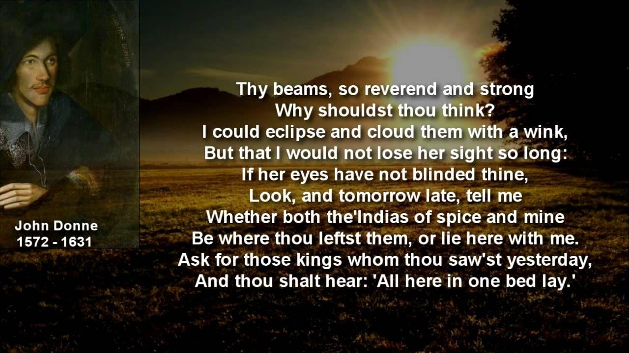 Pin On John Donne The Sun Rising Analysi