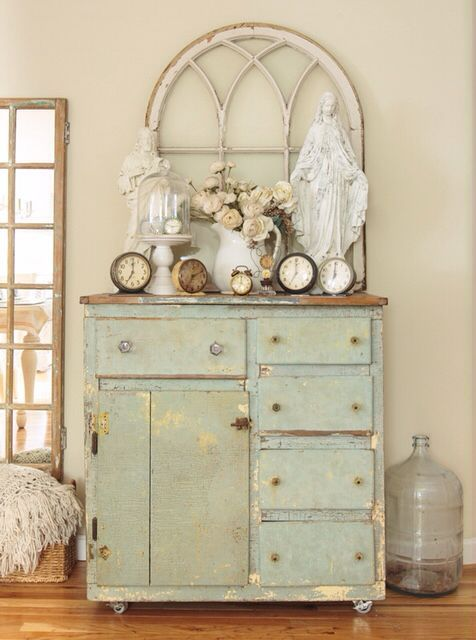 My Entryway Vignette As Shown In Romantic Country Magazine Spring