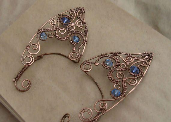 Elf Ear Cuffs Wire Wrapped Ear Cuffs Elven Ear Cuffs Wire Ear