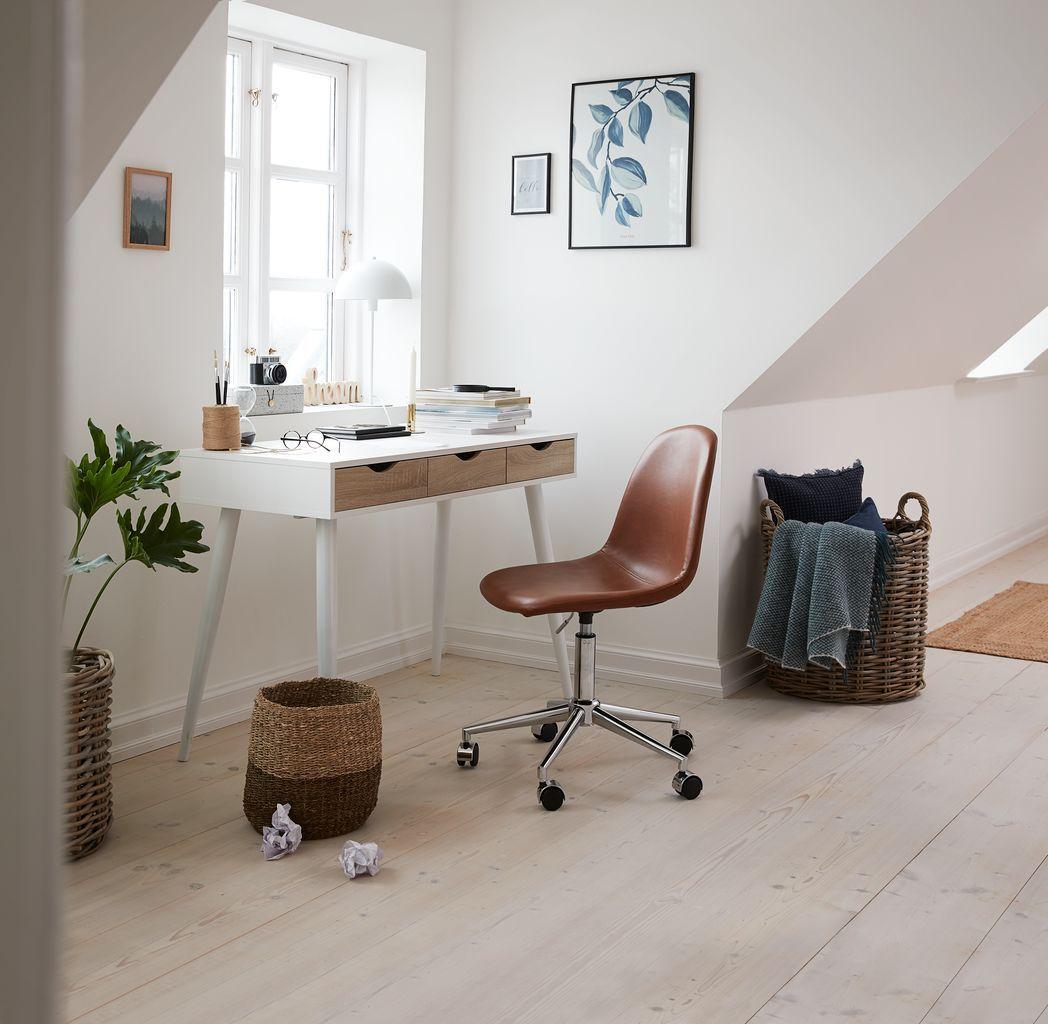 Skrivebord Plovsvad 50x110 Eik Hvit Jysk Skrivebord Hus Ideer Lejlighed