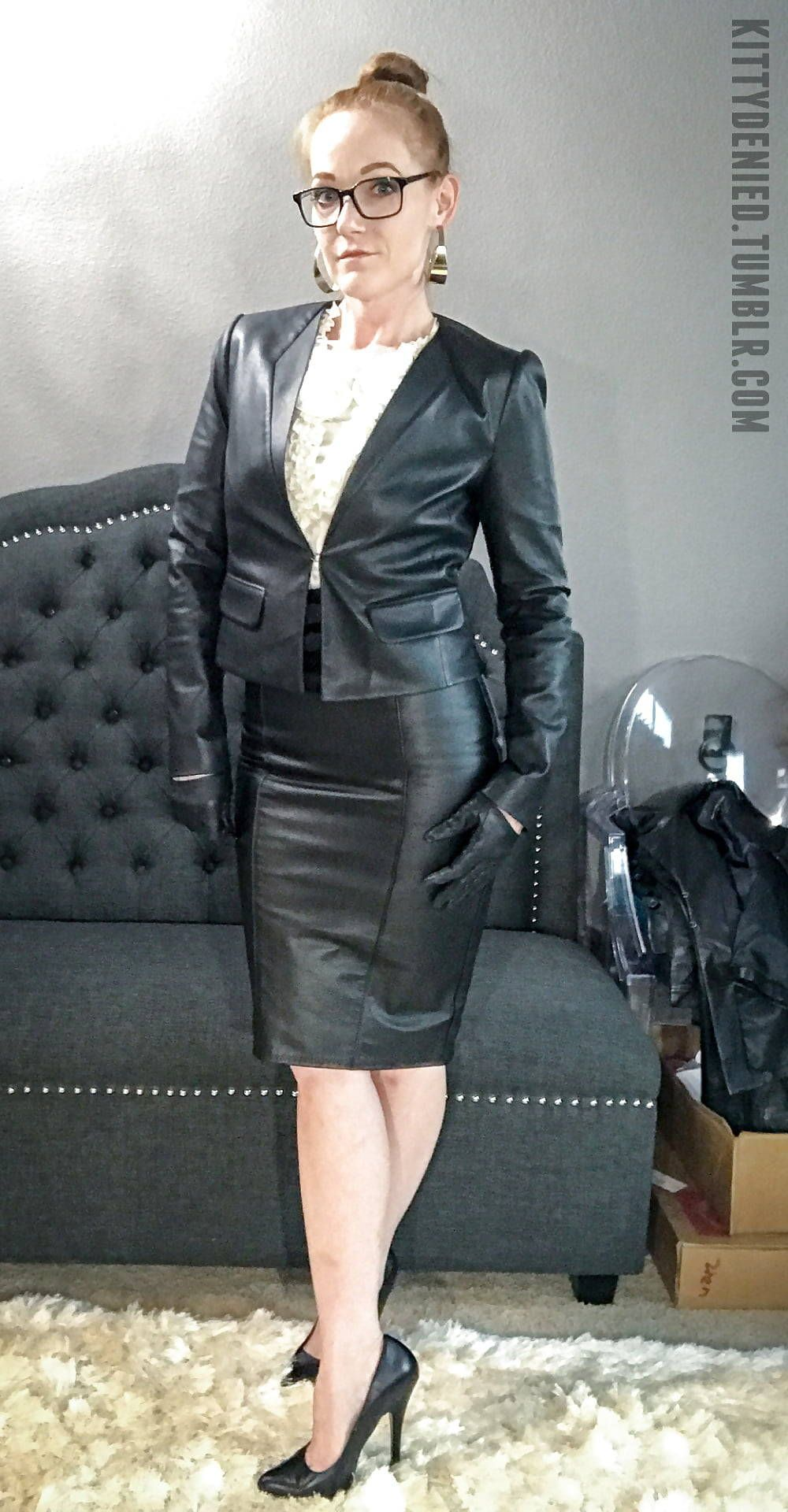 Mature leather ladies