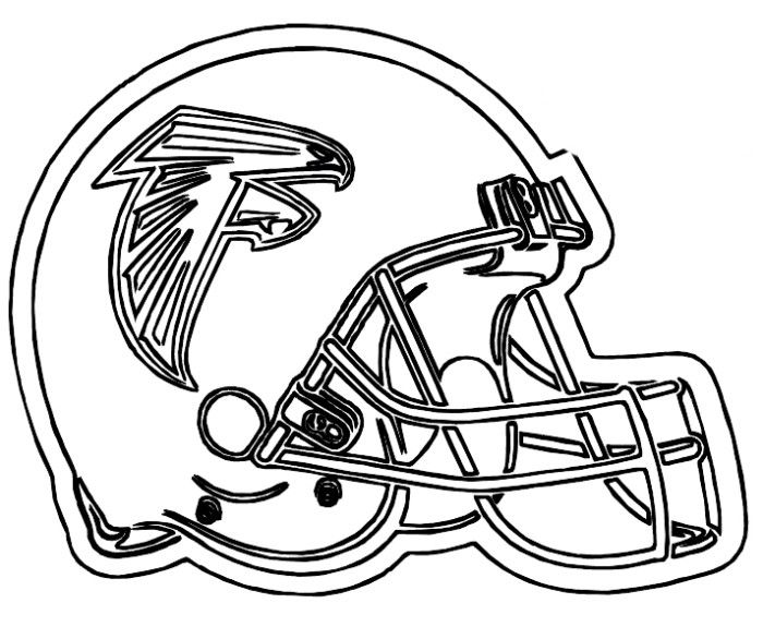 NFL Football Helmet For Games Coloring Pages - Football Coloring ...