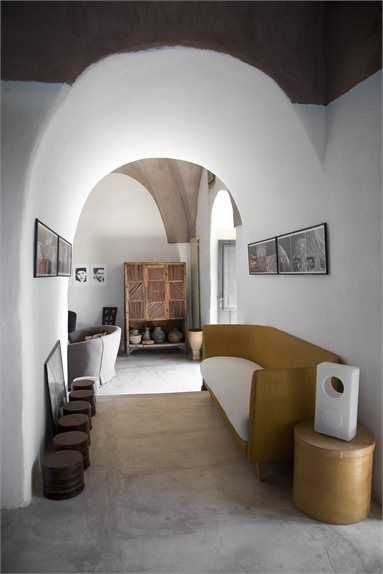 Interior in north Africa with LIO lamp by Sebastian Bergne