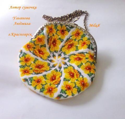 Схемы сумочки бисером
