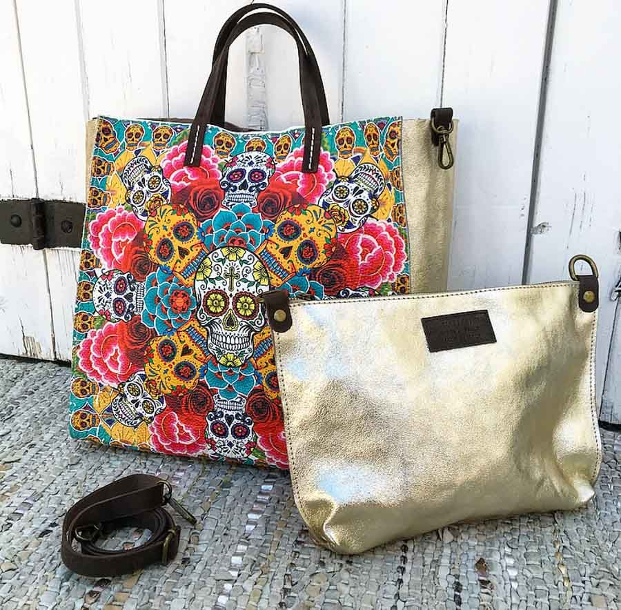 Le sac Acapulco de la marque Banditas from Marseille est un sac tout cuir,  impression 6115174917e