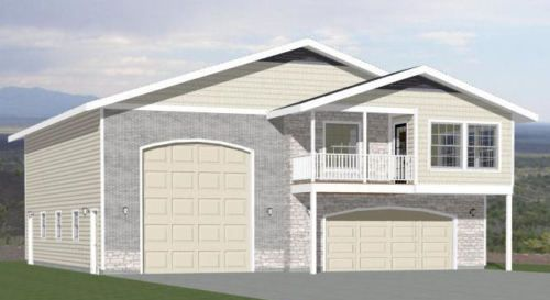 44x48 Apartment with 2-Car 1-RV Garage - PDF FloorPlan - 1,648 ...