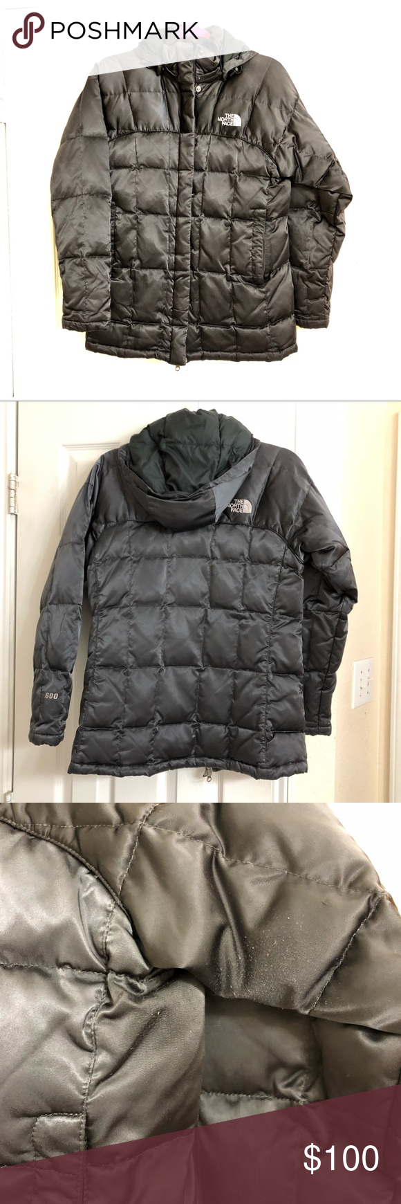 The North Face 600 Down puffer jacket hooded XS Down