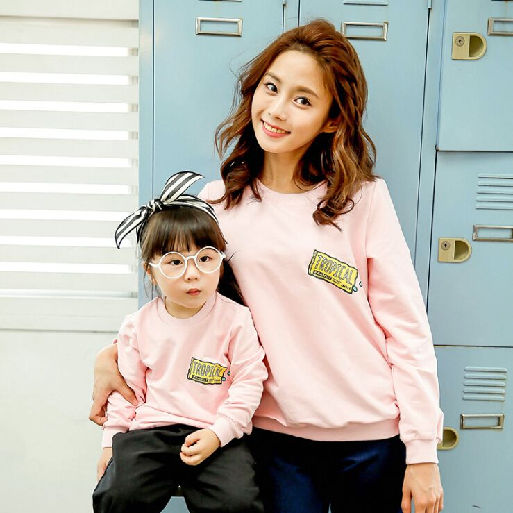 693c88340a Casual Family Matching Outfit Mother Daughter Son Clothes Mom and Daughter  Matching Clothes Family Clothing Parent