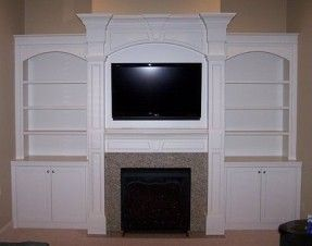 tv above electric fireplace with bookshelves | ... electric fireplaces gas burning fireplaces httpwww be i converted my