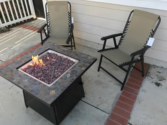 Cross Ridge Outdoor Gas Fire Pit Table Patio Heater