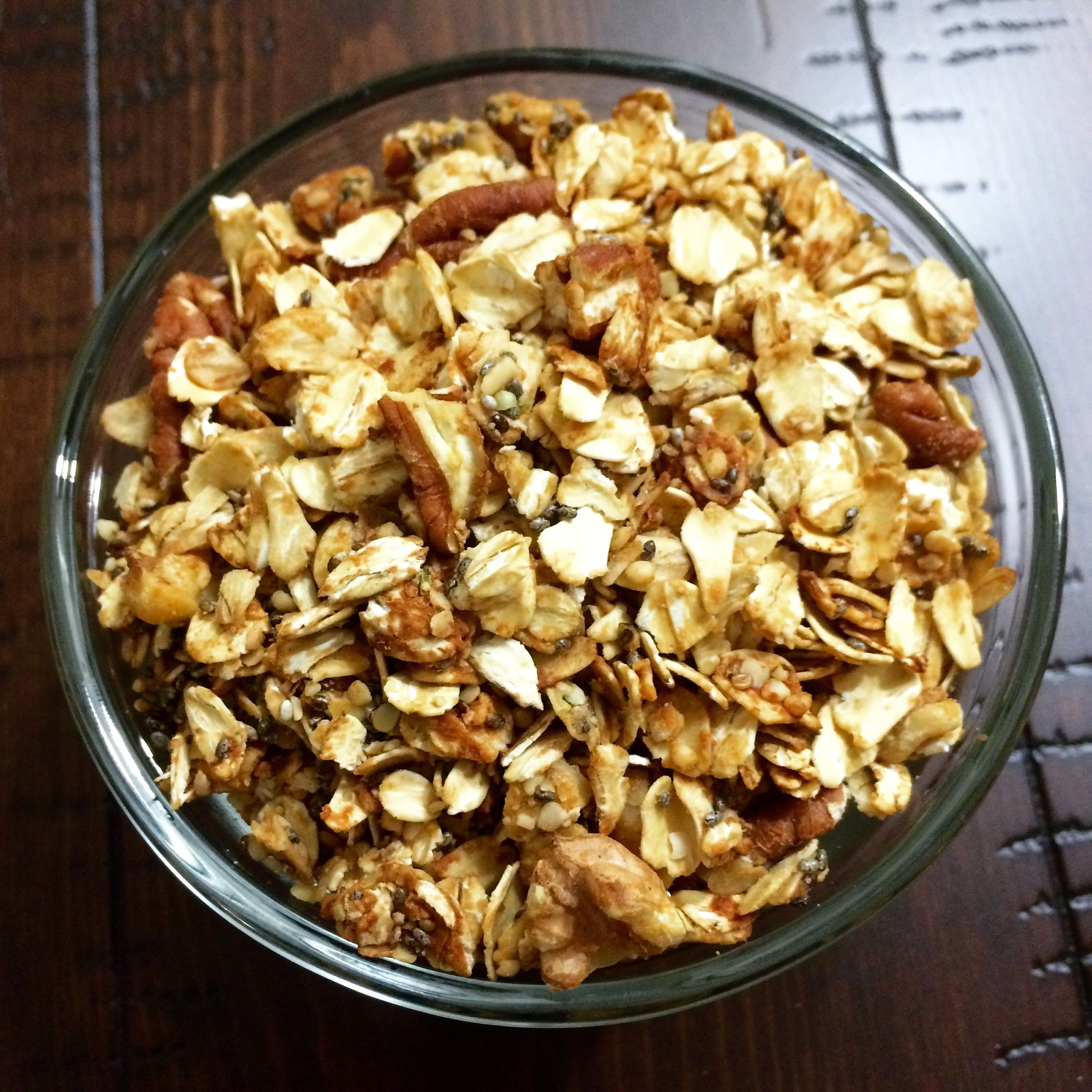 Chia Granola -High In Protein And Fiber And Low In Sugar