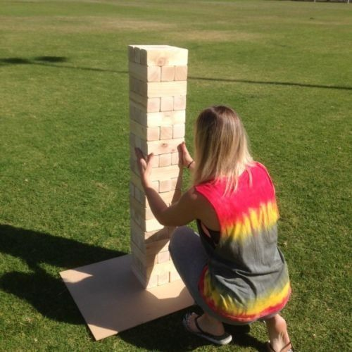 54 Piece Giant Jenga Outdoor Wood Block Game 127cm (With ...