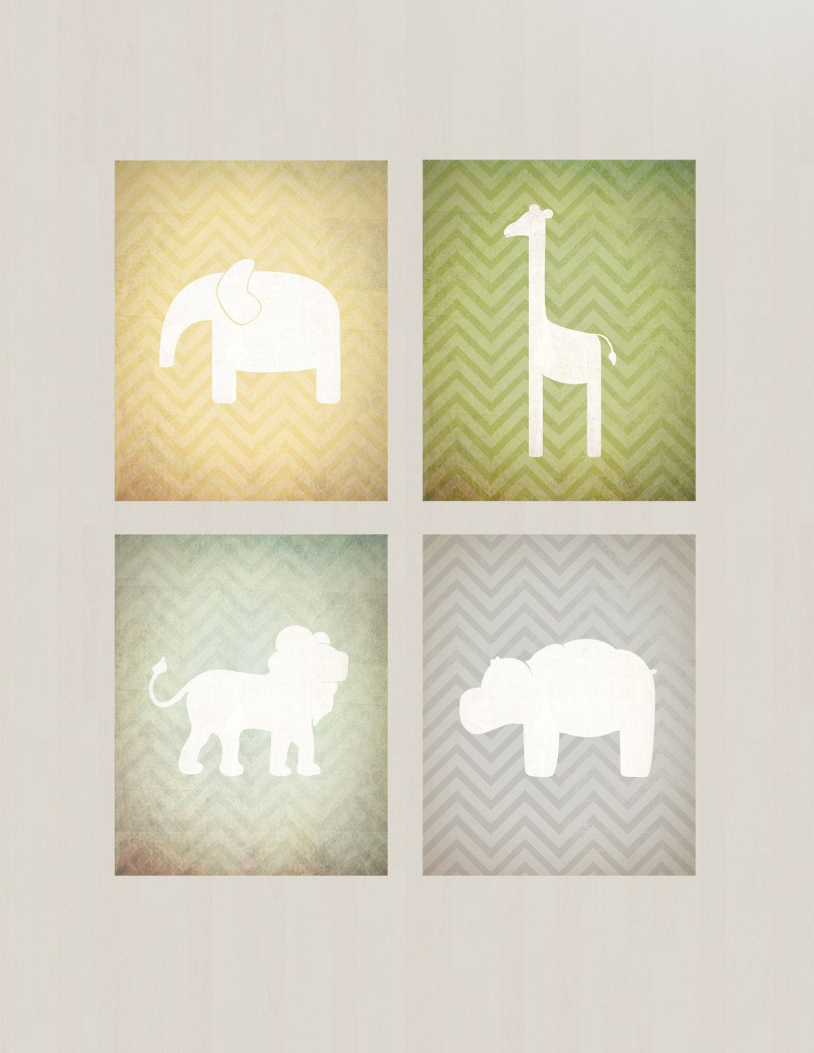 Safari Nursery Printables - Vintage Inspired, Lion, Elephant ...
