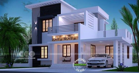 1750 square feet 4 bhk modern home design is part of House design - Box model beautiful modern home in an area of 1750 square feet with 4 bedrooms by Dream Form from Kerala