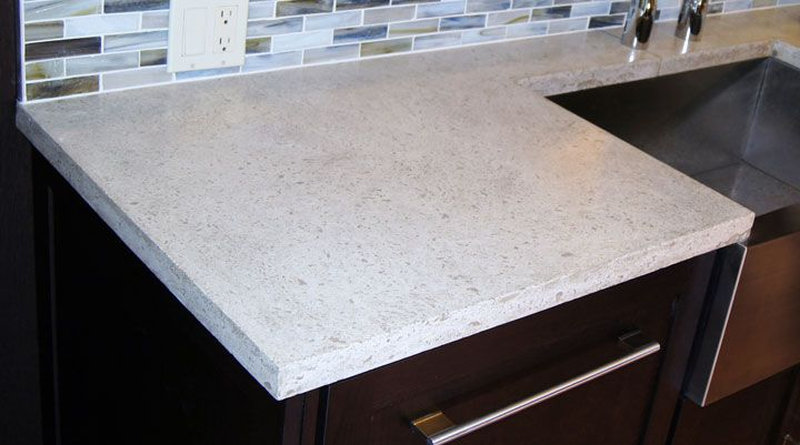 White Concrete Counter For Island Kitchen Concrete