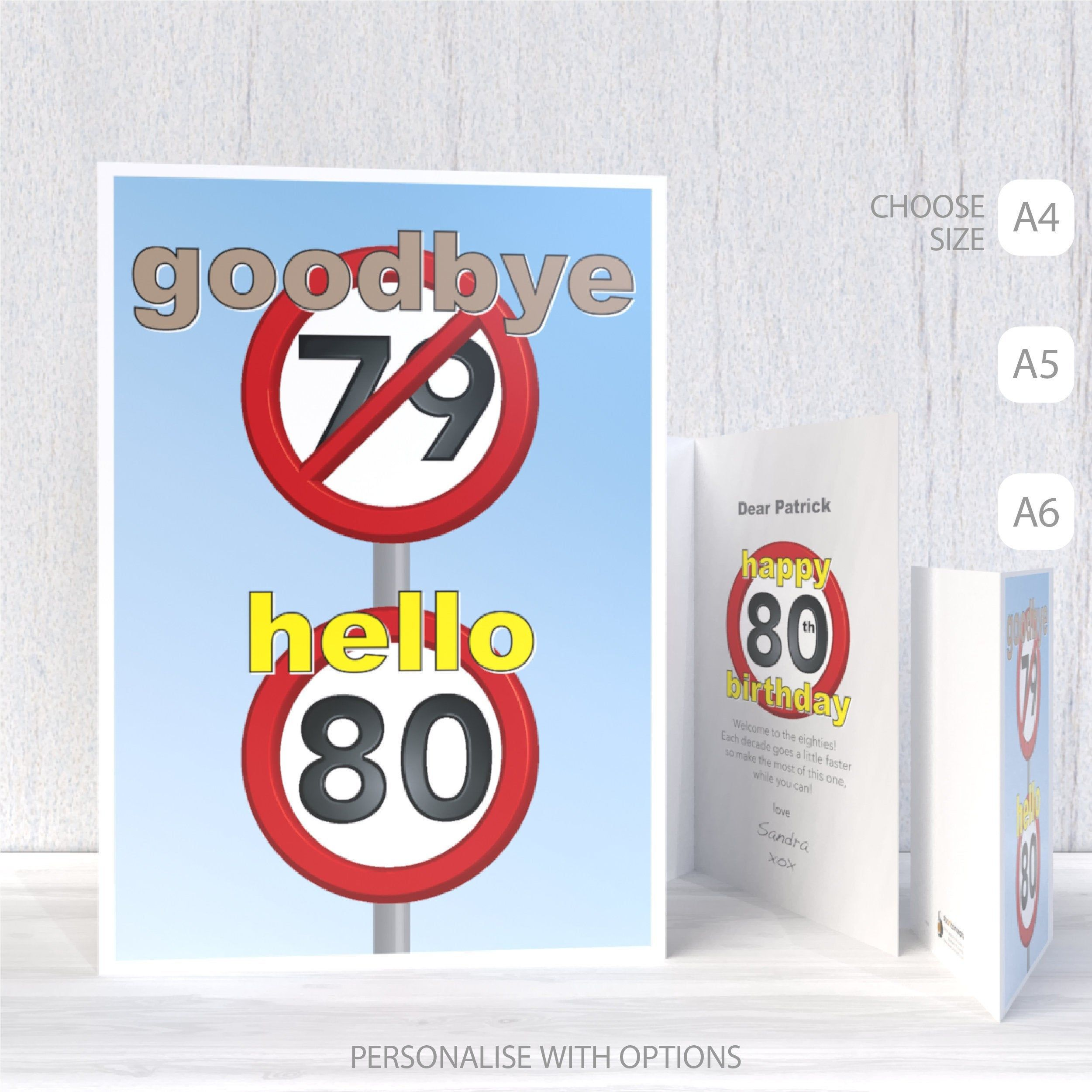 Funny 80th Happy Birthday Card For Him For Her 80 Birthday Etsy Birthday Cards For Him Happy Birthday Cards Birthday Wishes Cards