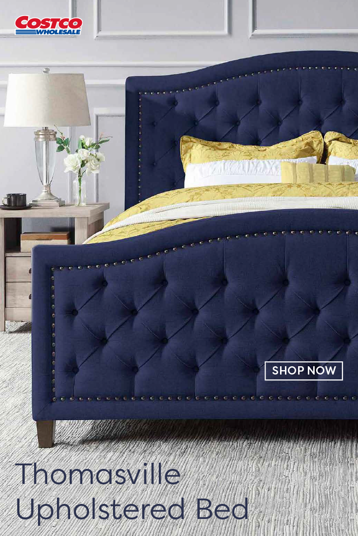 Thomasville Upholstered Bed, Blue in 2020 Upholstered