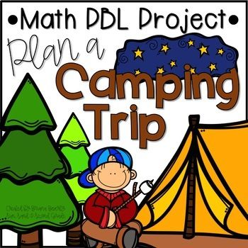 At Home Learning Math Project | Plan a Camping Trip Project Based Learning