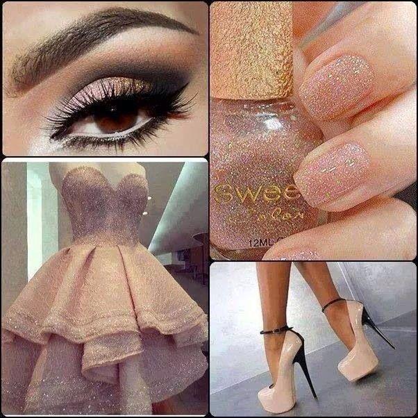Make Up, Nails, Dress, Shoes .. Love it!