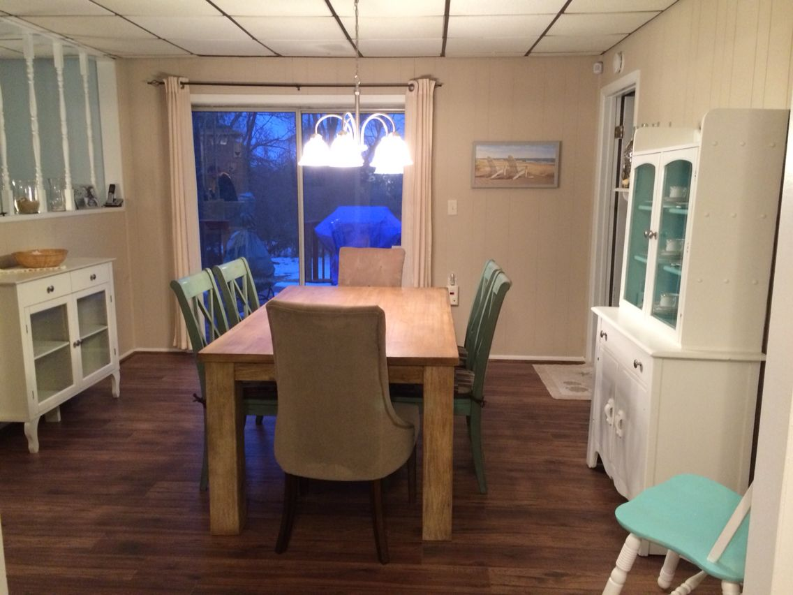 Beachy dining room renovation. Sand dollar from sherwin williams ...