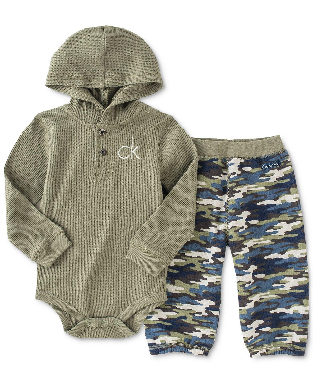 Calvin Klein Baby Boys Thermal Bodysuit And Pants Set
