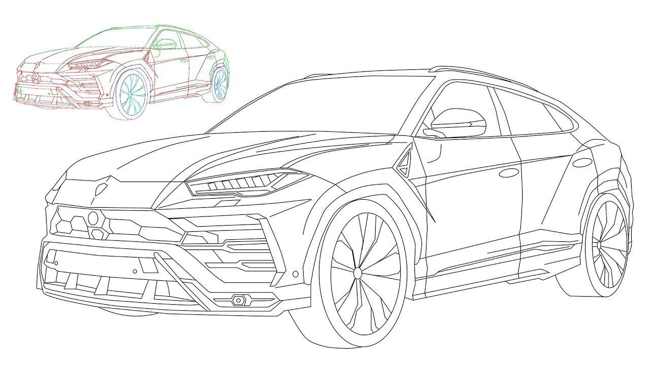 Lamborghini Urus In 2020 Digital Drawing Drawings Lamborghini