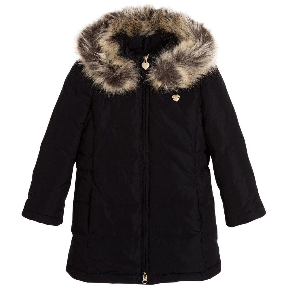 274fe7854 ARMANI JUNIOR Girls Blue Down Padded Coat