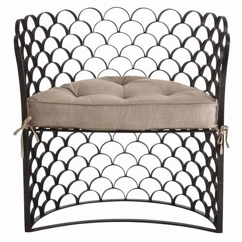 Natural Iron and Natural Linen with Removable Cushion.