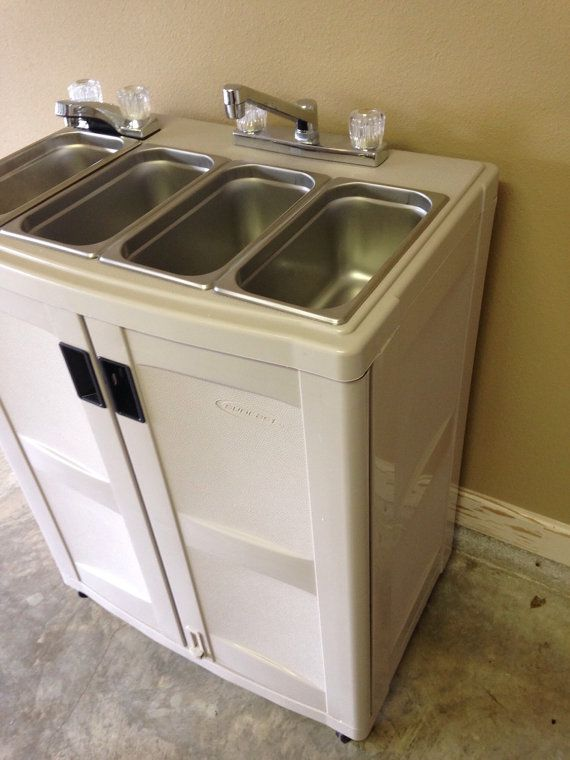Electric Portable Concession Sink 3 Compartments Hand By Pcsinks