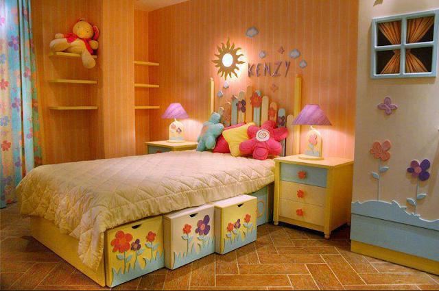 Dise o de dormitorios infantiles para ni as dise o y for Decoracion cuarto para nina 8 anos