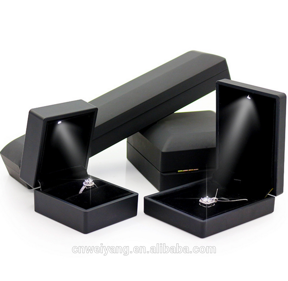 LED Plastic Jewelry boxes Necklace EarringsRingBracelet holder