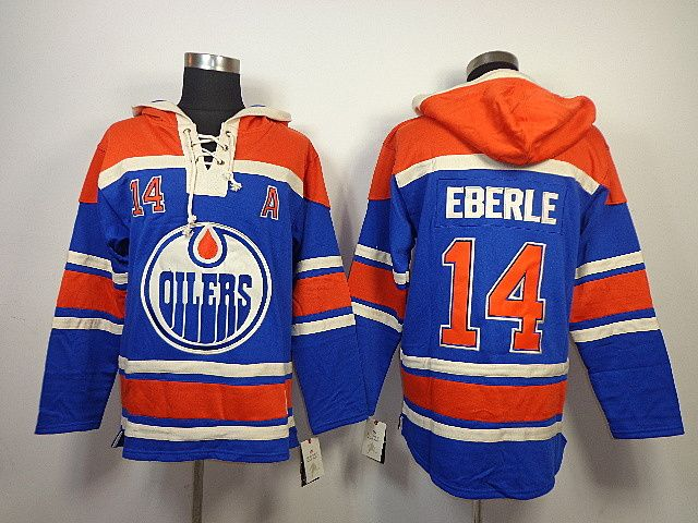 online store a6f14 4d840 nhl hoodies edmonton oilers 14 eberle royal blue old time ...
