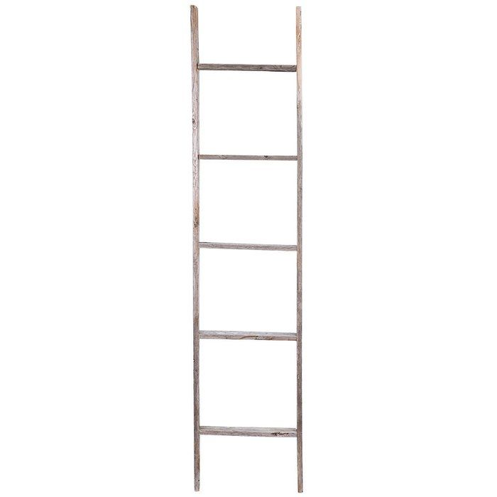 This charming weathered rustic barn wood ladder is made from old upcycled pickets. Add lights, garland or greenery or use the rungs as shelves to display photos. This style ladder can be wall hung or used as a standing decorative piece. This ladder is made with recycled wood and is accented with nail holes, as well as knots and other imperfections.
