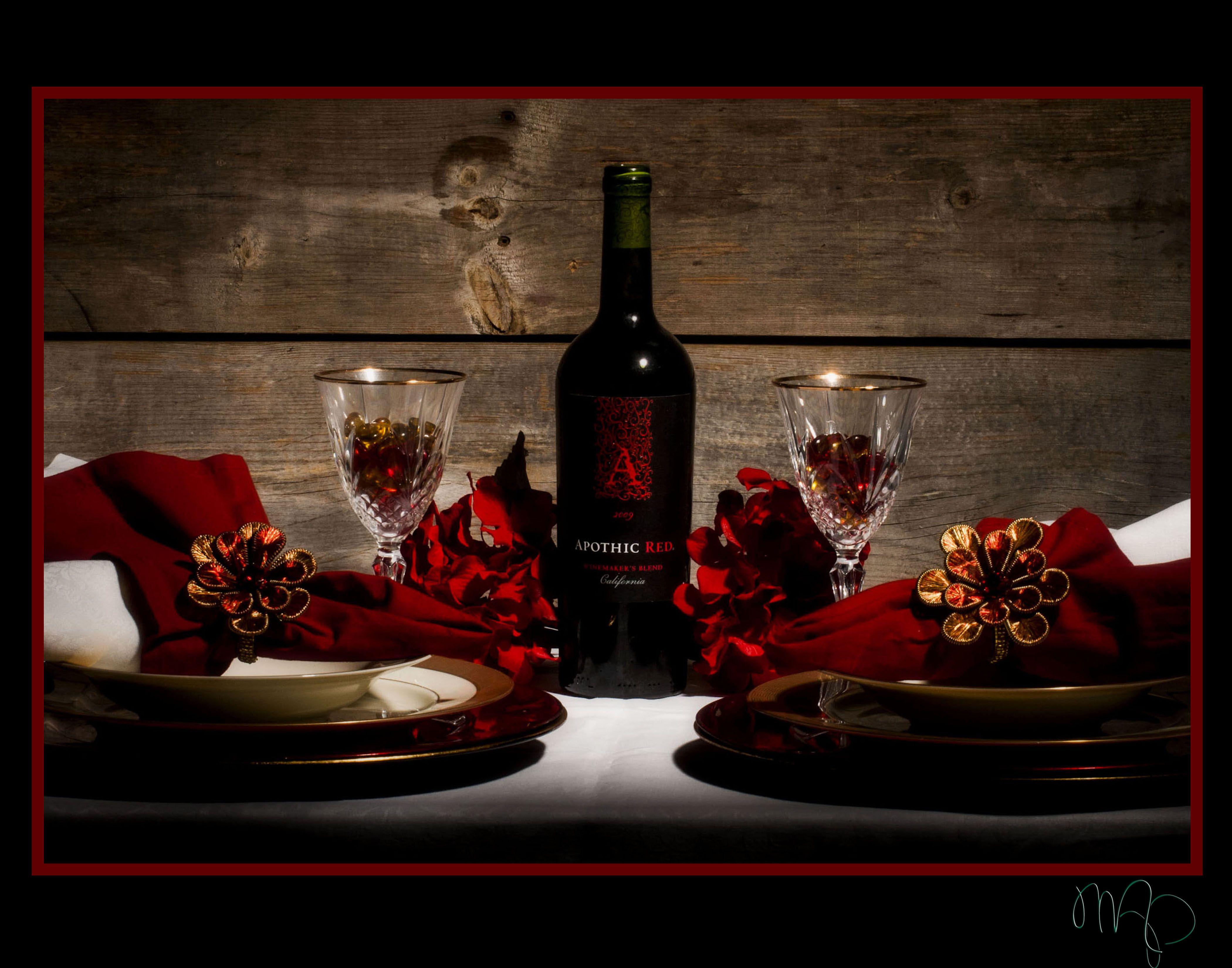 Romantic Table Setting For 2 Table Setting Pinterest