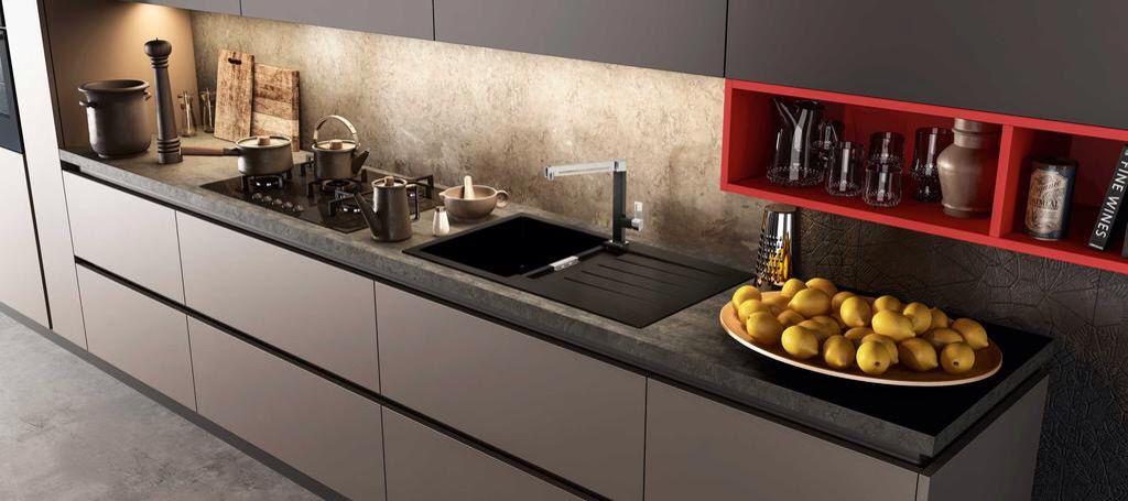 Schock presenta signus d100 a colore nero puro 84 il lavello da cucina in cristadur e il - Lavello cucina nero ...