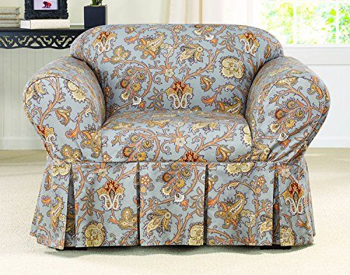 Sure Fit Tennyson 1Piece   Chair Slipcover   Topaz SF44350 -- Click on the image for additional details.Note:It is affiliate link to Amazon.