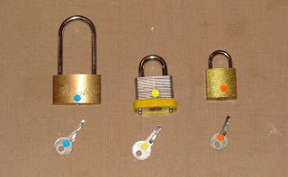 Our Montessori Chronicles - locks purchased at the dollar tree