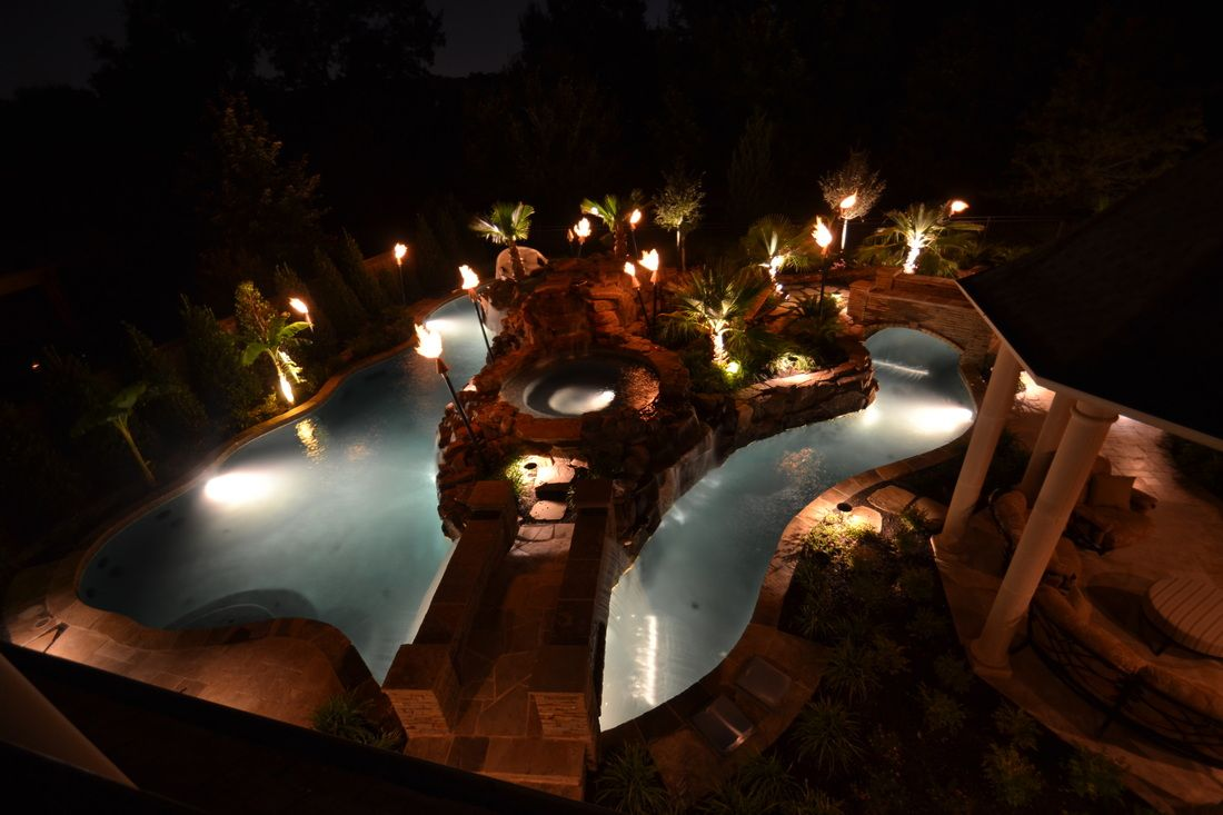 Colleyville Residential Lazy River -  FARLEY POOL DESIGNS