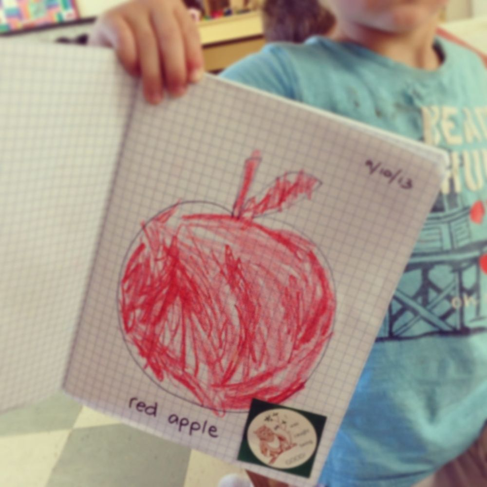 a is for apple journal work