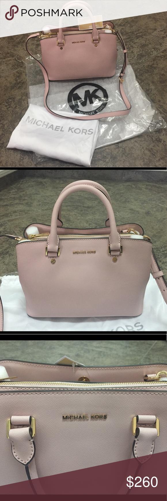 Pink Handbags Michael Kors Savannah