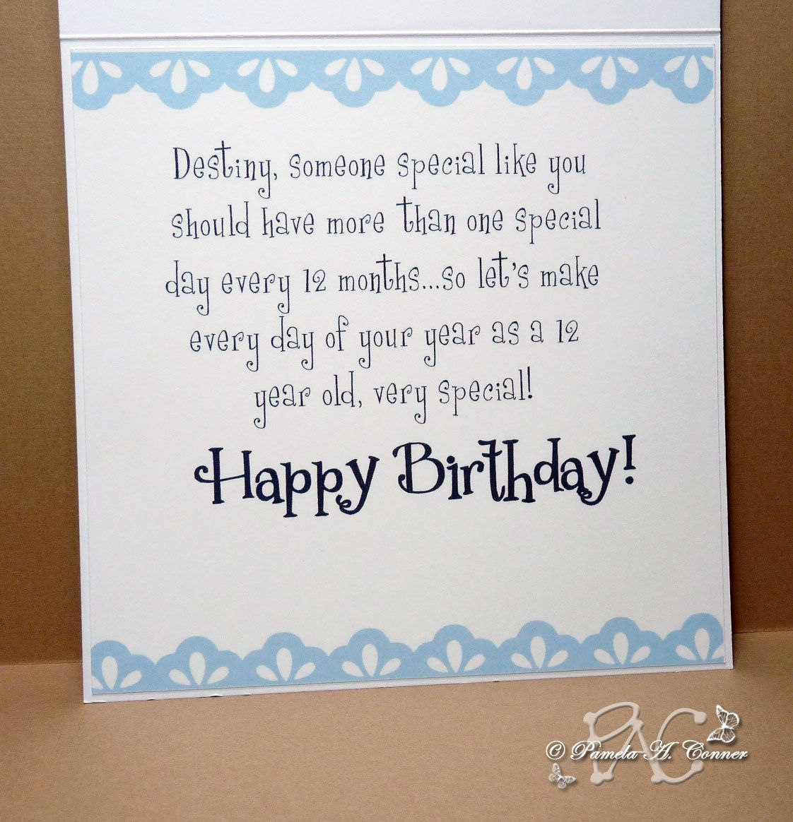 2 Year Old Birthday Card With Ucwords