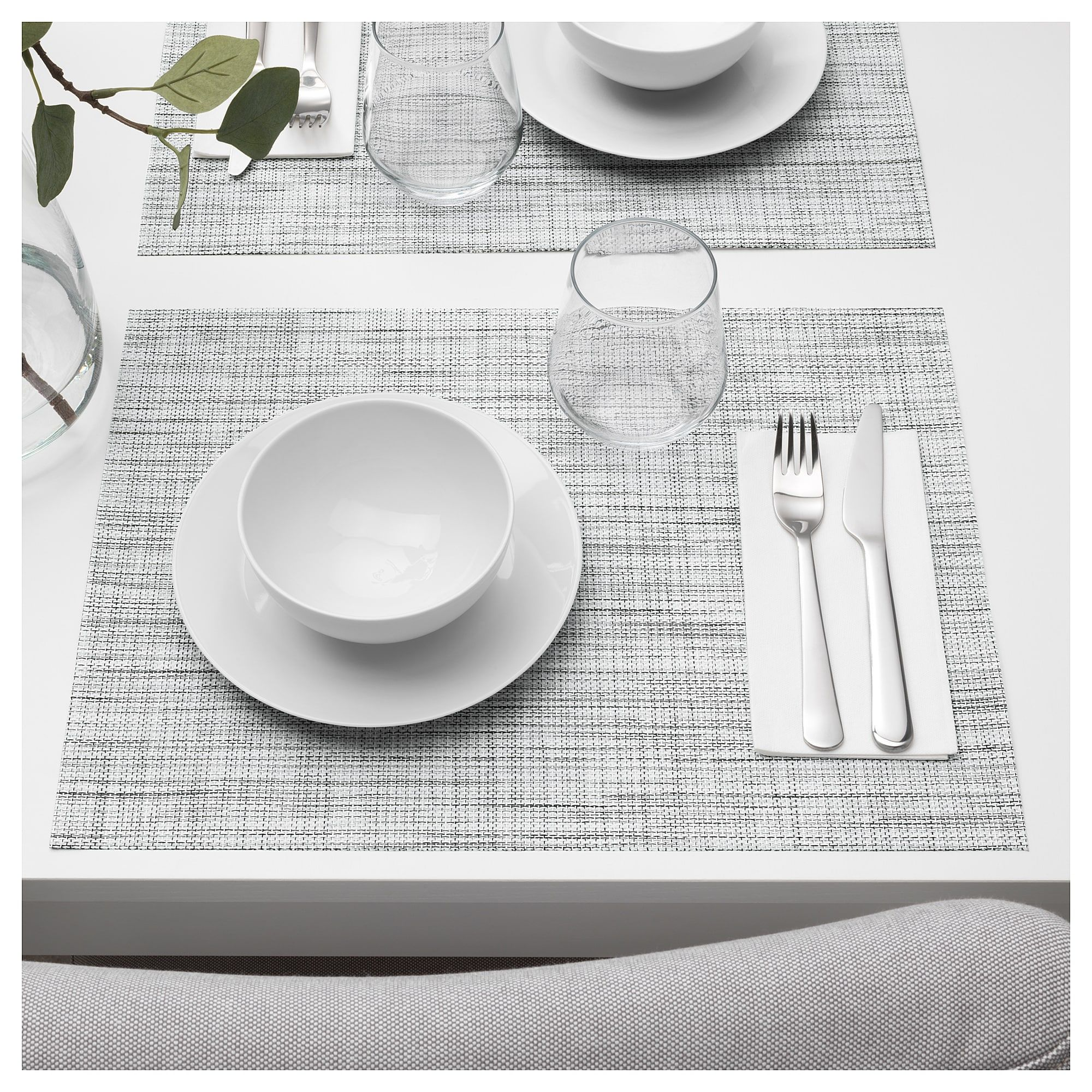 Snobbig Place Mat White Black Ikea Placemats Pink Placemats Bowl Light