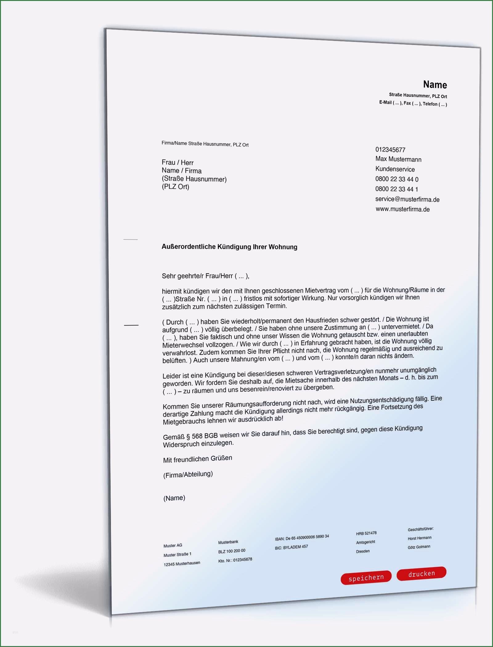 Kundigung Mietvertrag Vorlagen Zur Wohnungskundigung 13