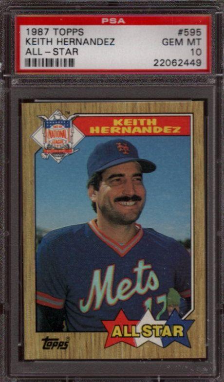 1987 Topps Keith Hernandez All Star Card Baseball Card