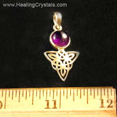 Gemstone pendants amethyst crystal celtic triangle pendant gemstone pendants amethyst crystal celtic triangle pendant amethyst healing crystals aloadofball Images